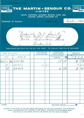 Receipt from The Martin-Senour Company Ltd.