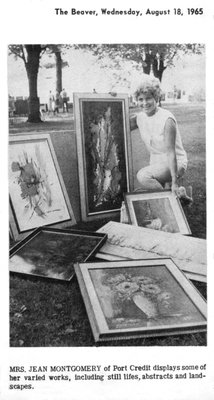 Art on the Green - Jean Montgomery and her work.