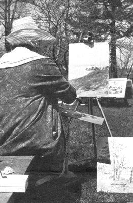 OAS Member Painting 'En Plein Air' (in open air/outside)