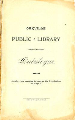 Oakville Public Library Catalogue (1)