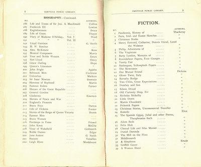 Oakville Public Library Catalogue (8-9)