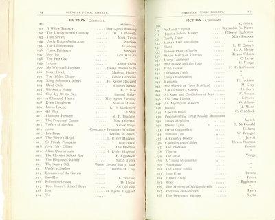Oakville Public Library Catalogue (14-15)