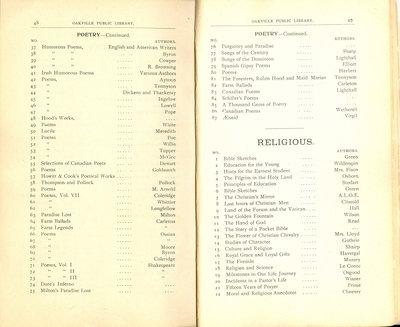 Oakville Public Library Catalogue (48-49)