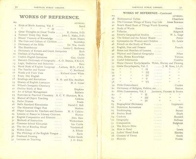 Oakville Public Library Catalogue (70-71)