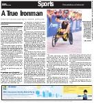 A true Ironman: Buren first Canadian paraplegic to complete gruelling race
