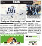 Family and friends enjoy Lain's Toronto NHL debut