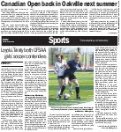 Sports: Loyola, Trinity both OFSAA girls' soccer contenders