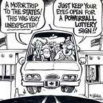 Steve Nease Editorial Cartoons: Powerball Lottery Sign