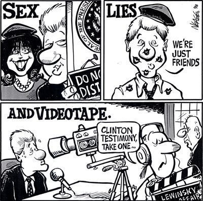 Steve Nease Editorial Cartoons: Sex, Lies, & Videotape