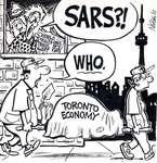 Steve Nease Editorial Cartoons: SARS & Toronto's Economy