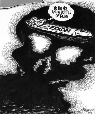 Steve Nease Editorial Cartoons: Exxon Valdez Oil Spill