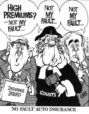 "Steve Nease Editorial Cartoons: ""No Fault"" Auto Insurance"