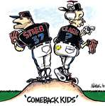 "Steve Nease Editorial Cartoons: ""Comeback Kids"""