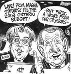 Steve Nease Editorial Cartoons: 2003 Ontario Budget