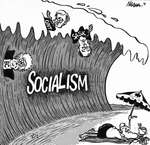 Steve Nease Editorial Cartoons: Socialism Wave