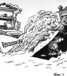 Steve Nease Editorial Cartoons: Recession Snowplow