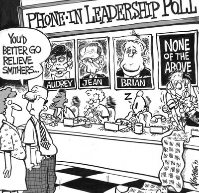 Steve Nease Editorial Cartoons: Phone-In Leadership Poll