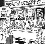 Steve Nease Editorial Cartoons: Phone-In Leadership Poll
