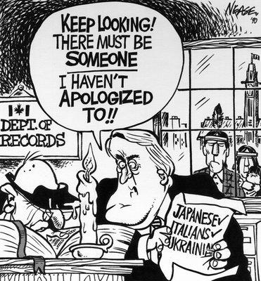 Steve Nease Editorial Cartoons: Mulroney's Apologies
