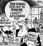 Steve Nease Editorial Cartoons: Mulroney's Apologies
