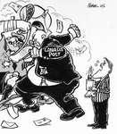 Steve Nease Editorial Cartoons: Canada Post Brawl