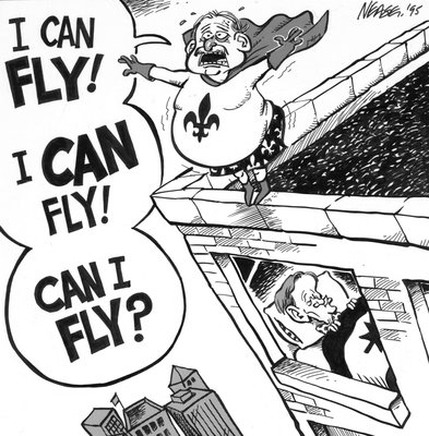 Steve Nease Editorial Cartoons: I can Fly! Can I fly?