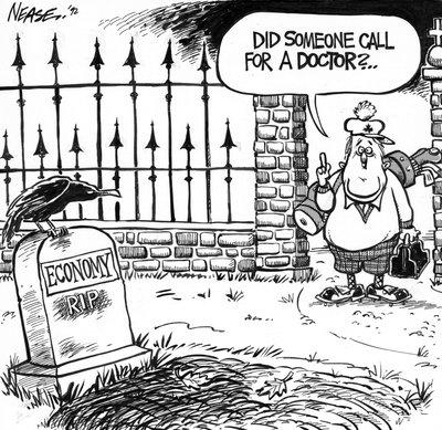 Steve Nease Editorial Cartoons: RIP Economy