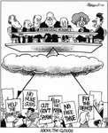 Steve Nease Editorial Cartoons: Above the Clouds