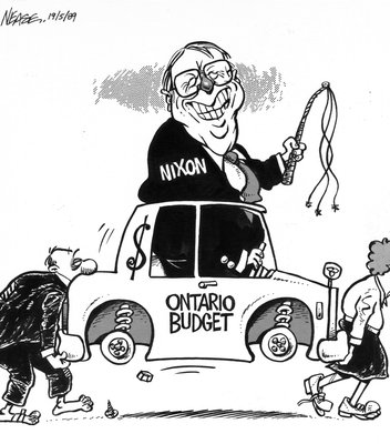 Steve Nease Editorial Cartoons: Ontario Budget 1989