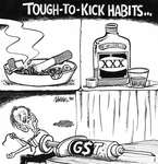 Steve Nease Editorial Cartoons: Tough to Kick Habits (GST)