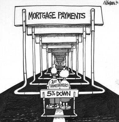 Steve Nease Editorial Cartoons: Mortgage Hurdles