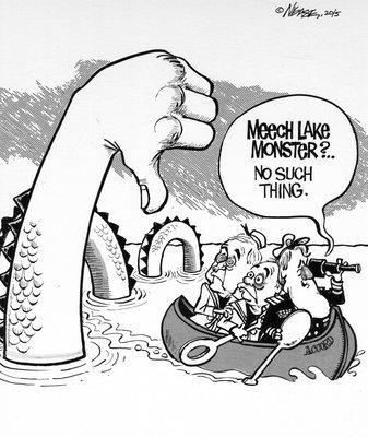 Steve Nease Editorial Cartoons: Meech Lake Monster?