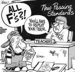 Steve Nease Editorial Cartoons: Harris' Report Card