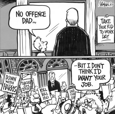 Steve Nease Editorial Cartoons: Take Your Kid to Work Day