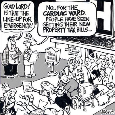 Steve Nease Editorial Cartoons: Property Tax Bills