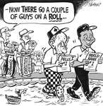 Steve Nease Editorial Cartoons: Chretien and Woods