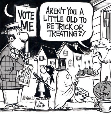 Steve Nease Editorial Cartoons: Trick or Treating (Municipal Election)