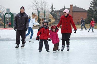 McCready family skate at College Park