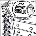Steve Nease Editorial Cartoons: Budget Surplus