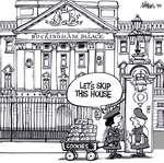Steve Nease Editorial Cartoons: Girl Guides at Buckingham Palace
