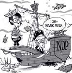 Steve Nease Editorial Cartoons: Bob Rae Sinking