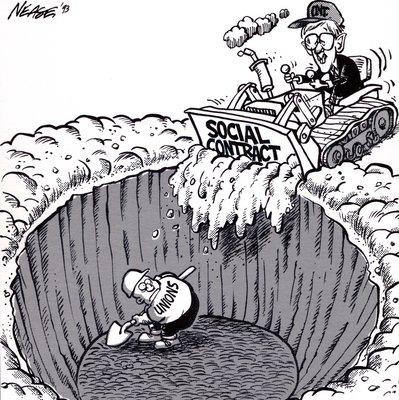 Steve Nease Editorial Cartoons: Bob Rae's Social Contracts