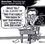 Steve Nease Editorial Cartoons: Joe Clark's French Lessons