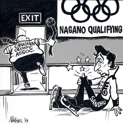 Steve Nease Editorial Cartoons: Nagano Qualifying