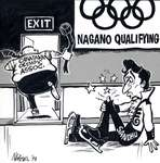 Steve Nease Editorial Cartoons: Nagano Qualifying