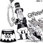 Steve Nease Editorial Cartoons: Paul Martin's National Tax