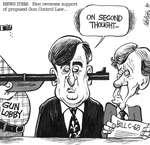 Steve Nease Editorial Cartoons: Bloc Reverses Support of Gun Control Law