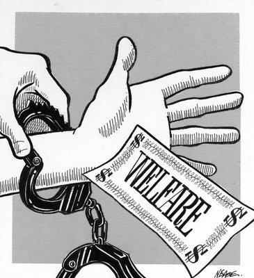 Steve Nease Editorial Cartoons: Welfare Shackles