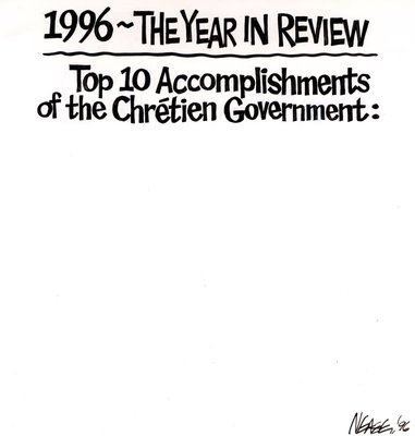 Steve Nease Editorial Cartoons: Chretien's Accomplishments