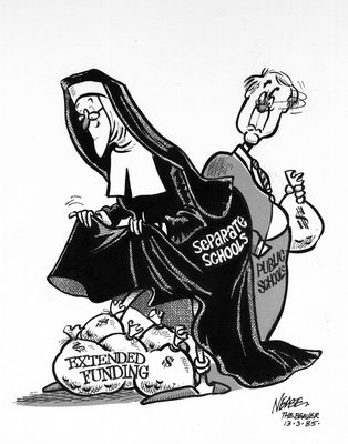 Steve Nease Editorial Cartoons: Extended Funding for Catholic Schools